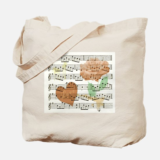 Sheet Music Valentine Tote Bag