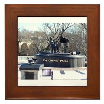 Ray Charles Plaza Framed Tile
