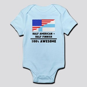Half American Plus Half Finnish Body Suit
