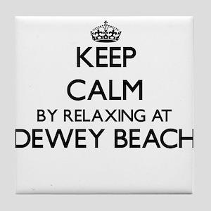 Keep calm by relaxing at Dewey Beach Tile Coaster