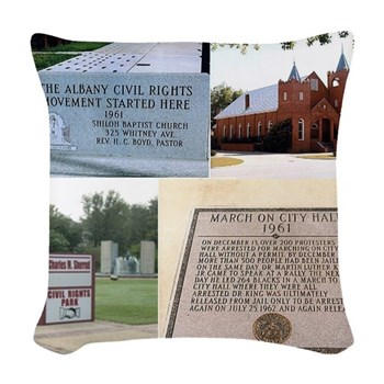 Albany Civil Rights Woven Throw Pillow