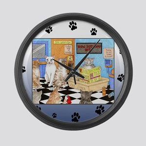 Cat 522 Large Wall Clock