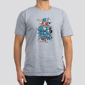 GOTG Rocket Drawing Men's Fitted T-Shirt (dark)
