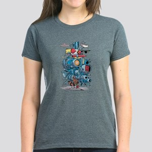 GOTG Rocket Drawing Women's Dark T-Shirt