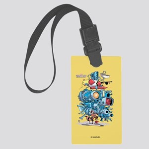 GOTG Rocket Drawing Large Luggage Tag