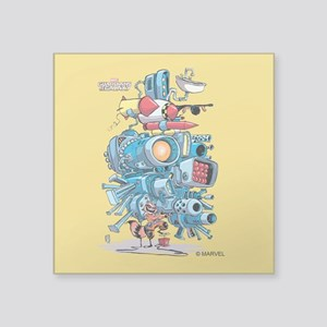 "GOTG Rocket Drawing Square Sticker 3"" x 3"""