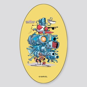 GOTG Rocket Drawing Sticker (Oval)