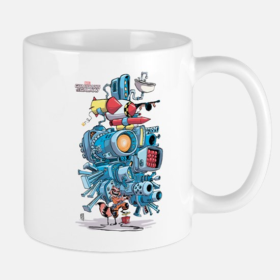 GOTG Rocket Drawing Mug