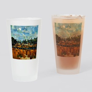 Cezanne painting, Riverbanks Drinking Glass