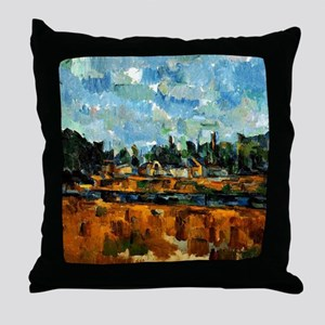 Cezanne painting, Riverbanks Throw Pillow