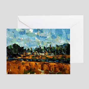 Cezanne painting, Riverbanks Greeting Card
