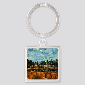 Cezanne painting, Riverbanks Square Keychain