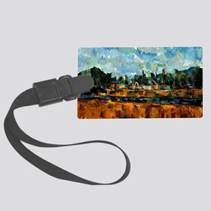 Cezanne painting, Riverbanks Large Luggage Tag