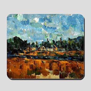Cezanne painting, Riverbanks Mousepad
