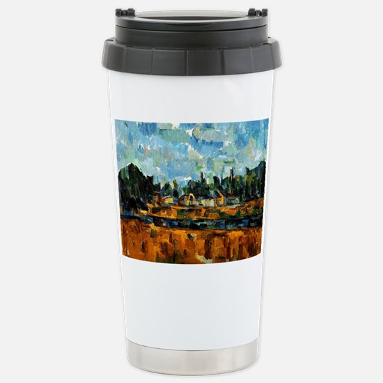 Cezanne painting, River Stainless Steel Travel Mug