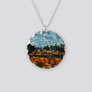Cezanne painting, Riverbanks Necklace Circle Charm