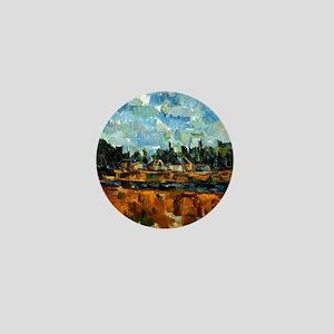Cezanne painting, Riverbanks Mini Button