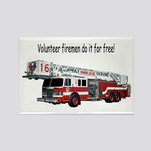 Firemen Make House Calls Rectangle Magnet
