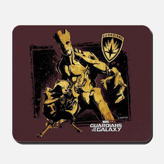 GOTG Rocket Groot Grunge Mousepad