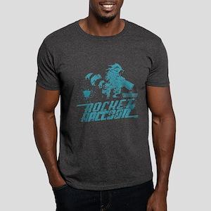 GOTG Rocket Spatter Dark T-Shirt