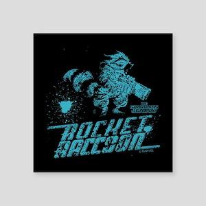 "GOTG Rocket Spatter Square Sticker 3"" x 3"""