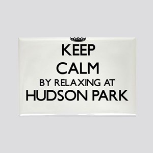 Keep calm by relaxing at Hudson Park New Y Magnets