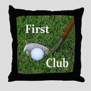First Club Throw Pillow