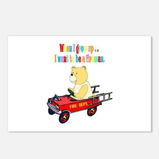 Firemen Make House Calls Postcards (Package of 8)