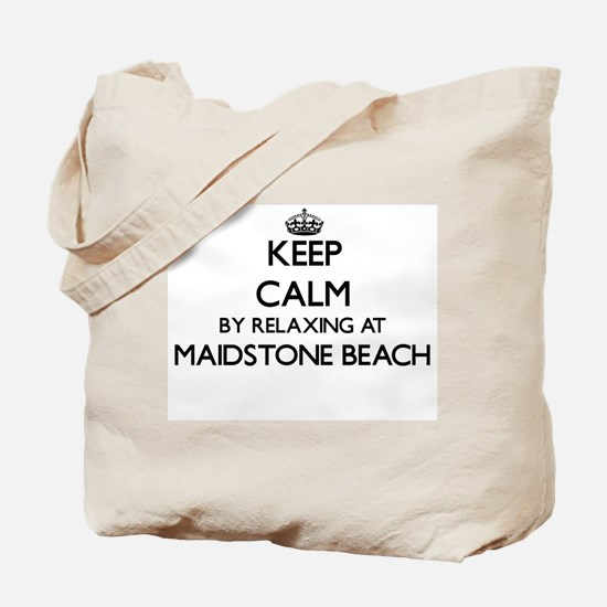 Keep calm by relaxing at Maidstone Beach Tote Bag