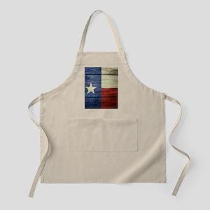 Texas Flag on Wood Apron