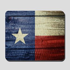 Texas Flag on Wood Mousepad