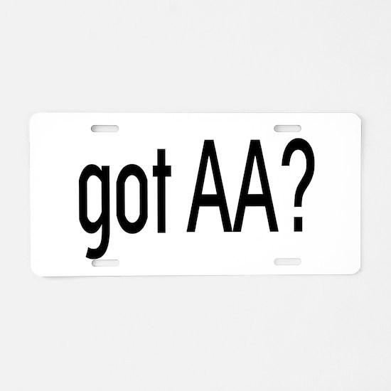 Got Aa? Aluminum License Plate