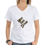 Men Are Dumb Women's V-Neck T-Shirt