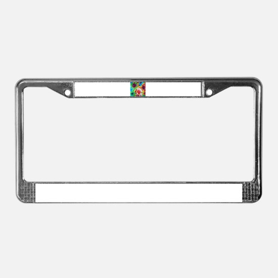 Tie Dye Pattern License Plate Frame