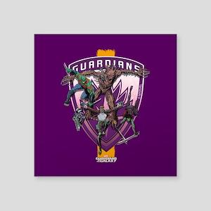 "GOTG Team Purple Square Sticker 3"" x 3"""