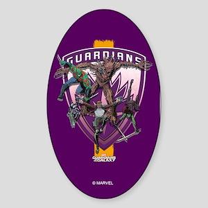 GOTG Team Purple Sticker (Oval)