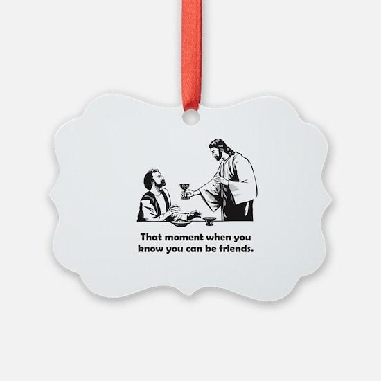 Jesus wine t-shirt Ornament