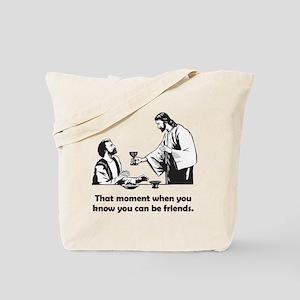 Jesus wine t-shirt Tote Bag