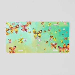 Butterflies on springtime Aluminum License Plate
