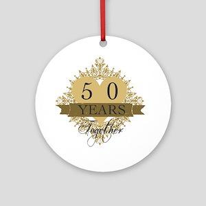 50th Wedding Anniversary Round Ornament