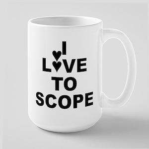 I Love To Scope (periscope) White Large Mug Mugs
