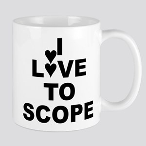 I Love To Scope (periscope) Small White Mug Mugs