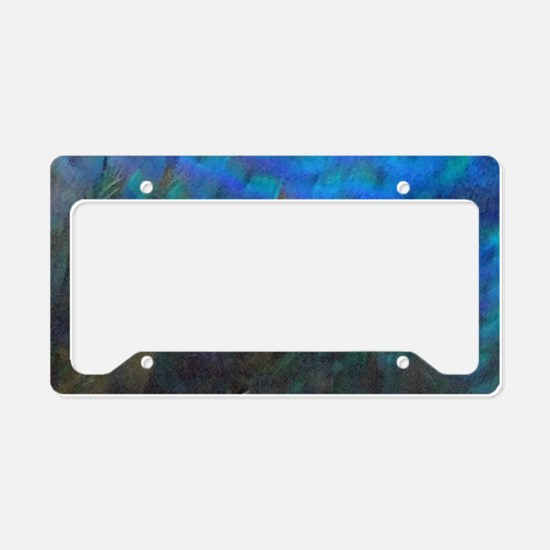 Magnificent Peacock Feathers License Plate Holder
