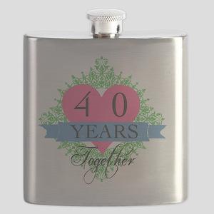 40th Wedding Anniversary Flask