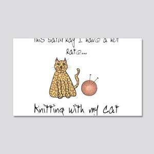 knitting cat 2 Wall Decal