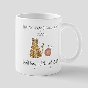 knitting cat 2 Mugs