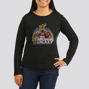 GOTG Team Retro D Women's Long Sleeve Dark T-Shirt