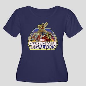 GOTG Tea Women's Plus Size Scoop Neck Dark T-Shirt