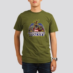 GOTG Team Retro Distr Organic Men's T-Shirt (dark)