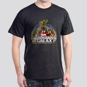 GOTG Team Retro Distressed Dark T-Shirt